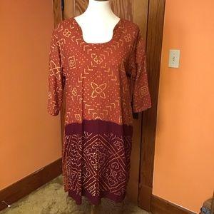 Vintage 70s ethnic India hippie chic dress